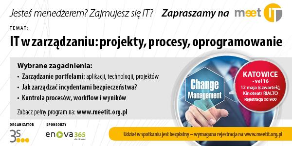 Rola IT w zarządzaniu tematem kolejnych spotkań Meet IT