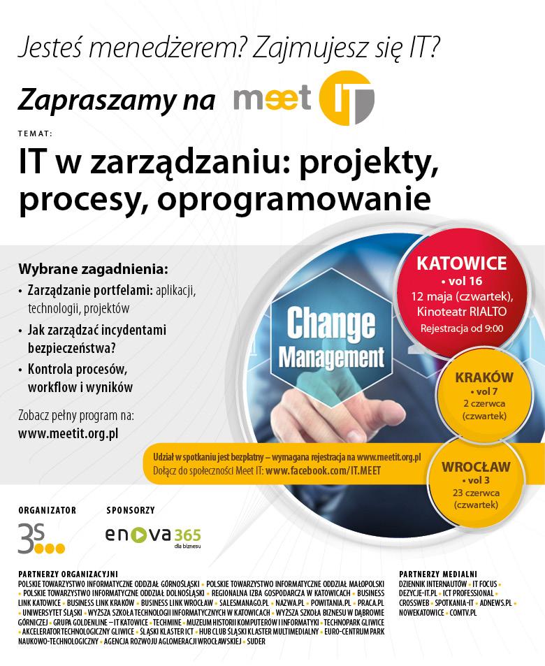 Zaproszenie Meet IT Katowice vol16_12052016